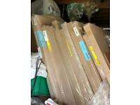 Job lot of 14 high end 8mm shower panels and 3mm doors