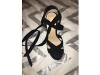 Women's size 6 lace up heels