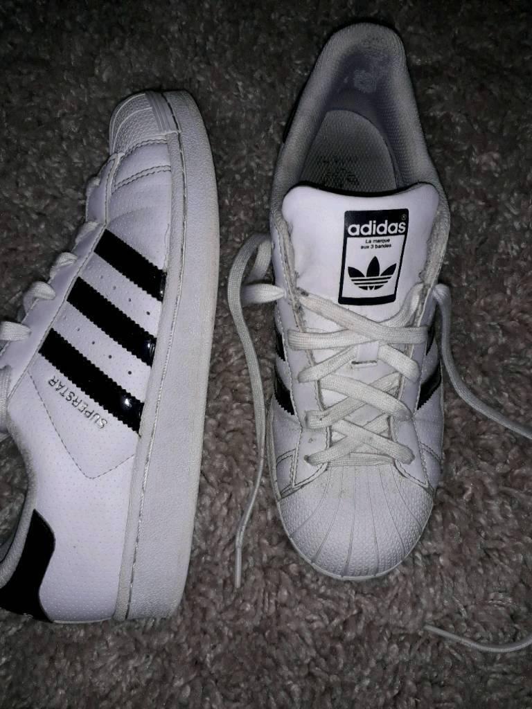 Pair of Adidas Superstar size 5 1/2