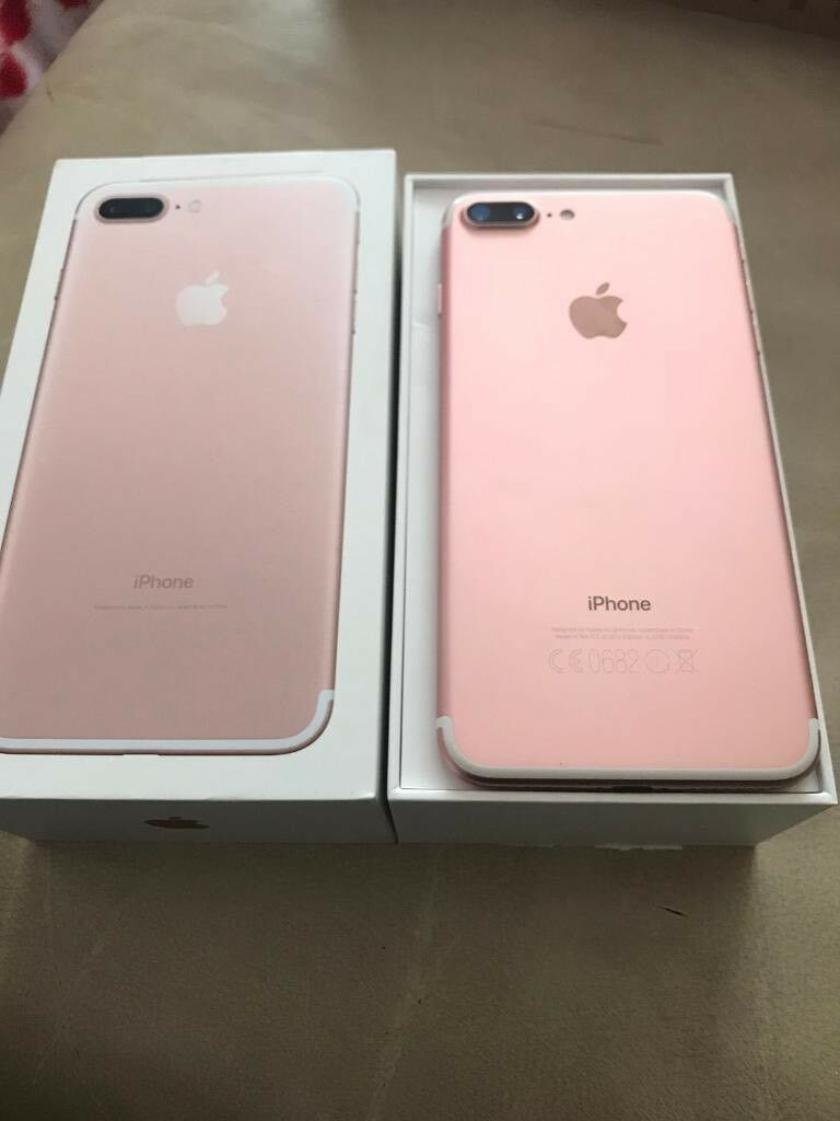 Apple Iphone 7 Plus Rose Gold 32gb Still In Apple Warranty In