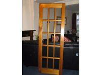 "27"" Hardwood glazed door - FREE"