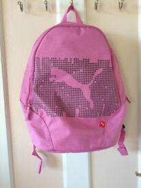 A pink rucksack