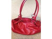 Small red handbag