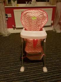Sliver cross dolls highchair