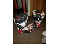 Fox forma f3 mx motocross/motorbike 9-11 boots mint