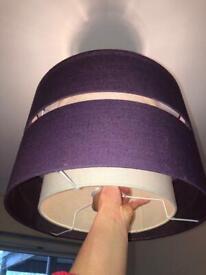 Purple ceiling lamp shade