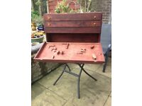 1970's Timber joiner's tool box.