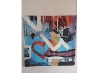 Abstract canvas picture