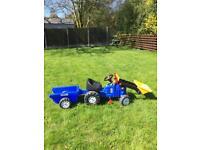 Children's ride on tractor.