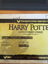Ticket for Harry Potter Cursed Child this sat 28/10