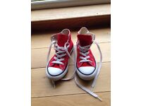 Converse All Star Boot - UK 1 - Red