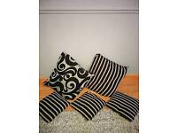 Various Cushions (Black & Grey)