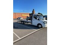 Vehicle recovery, collection, rescue and transportation service