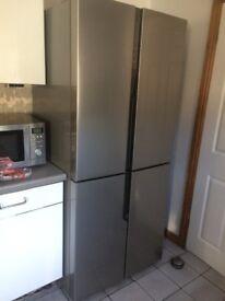 Hisense RQ562N4AC1 Fridge Freezer in Sainless Steel