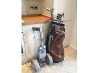 GOLF CLUBS / BAG AND TROLLEY