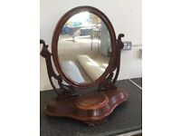 Antique oval swivel mirror