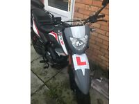 Motorbike 125cc Keeway road legal bike. Virtually brand new!