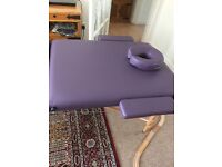 MASSAGE TABLE AS NEW Imperial deluxe PORTABLE in purple + accessories