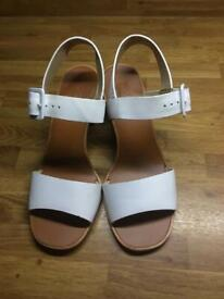 Topshop white sandals (UK size 5)