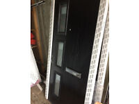 black composite doors x4