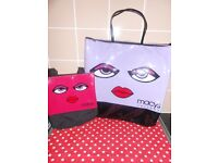MACY'S ORLANDO LARGE TOTE BAG WITH MATCHING SMALL TOTE BAG