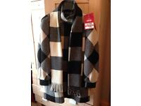 Jaeger Ladies Wool coat with detachable scarf size 8