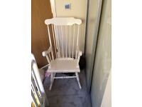 White Rocking Chair, Perfect for Baby Nursery