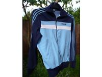 Men's rare and original ADIDAS Ventex, 1970/80-vintage, zip-up top / jacket. Size M. Made in Tunisia