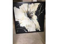 Large Cream Lily flower canvas