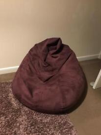 Large purple beanbag