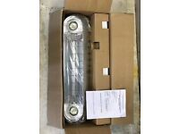 2 x Outdoor Garden Patio heater Halogen with LED lights. 1 Brand new in box, 1 used.