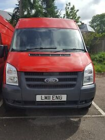 FORD TRANSIT LWB IN RED 2011 YEAR