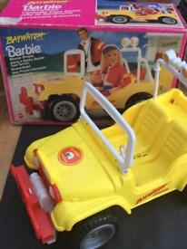 Vintage barbie bay watch jeep