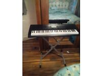 Casio keyboard & metal foldable stand