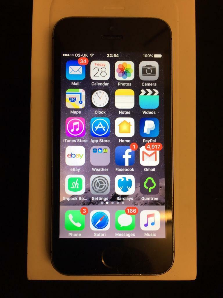 CHEAP IPHONE 5S 16GBin St Albans, HertfordshireGumtree - iPhone 5s 16gb in space grey has marks on the edges of the housing and has a tiny line next to the home button pls see photos fully working order network is o2 /giffgaff/Tesco phone onlyBargain £80 NO OFFERS !!!