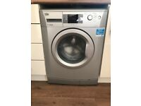 Silver electric washing machine