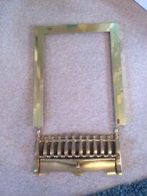 Brass effect fireplace trim & Fret