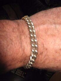 solid silver men's bracelet