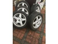 Mini alloy wheels Winter tyres 195/55/16
