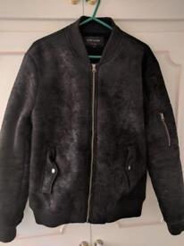 River island bomber suede jacket
