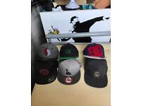 Snap backs and caps collection