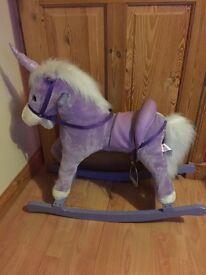 Purple Rocking Horse