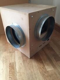 """BAF-2500 Acoustic wooden box fan 10"""" inch"""