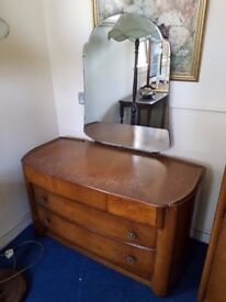 Vintage 5 Drawer Dressing Chest with Mirror