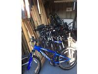 VARIOUS BIKES 18 inch to 26 inch wheels mountain bikes