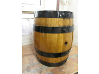 Oak barrel .20 ltr ideal planter if cut the top off /in half then you get 2