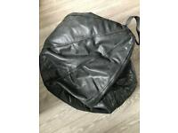 Large leather bean bag
