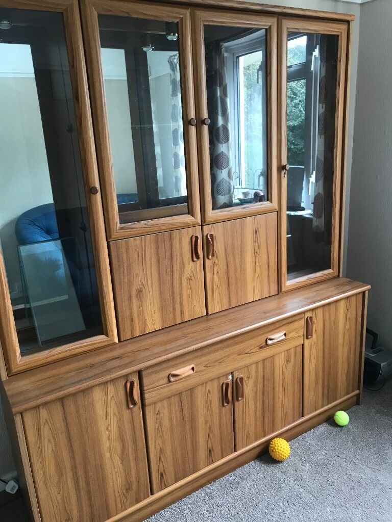 Wooden Dining Room Storage Display Cabinet