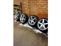 Alloys of Vauxhall, 17 inch also fit BMW £100