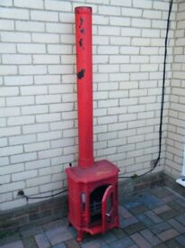 Heavy Cast-Iron Multi-Fuel STOVE with Pipe